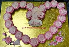 Mothers Day Cupcake Heart Tiffanys Bakery