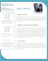Resume Free Blank Resume Templates For Microsoft Word 2 Best