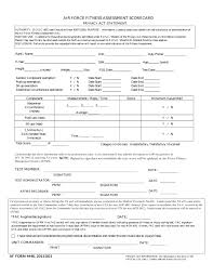 Air Force Fitness Score Chart 78 Faithful Air Force Fitness Test Chart