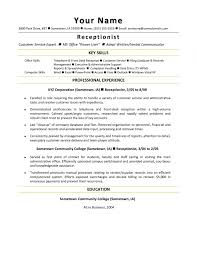 Receptionist Resume Sample Template Example Best Receptionist Resume