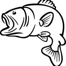 Small Picture Bass Fish Jumping Outline Sketch Coloring Page Dads 70th