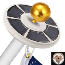 Super Bright Flagpole Light Amazon Com Coohole Solar Flag Pole Light 26 Led Super