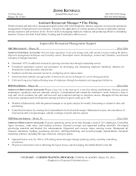fast food restaurant manager resume sample resume restaurant manager military bralicious co