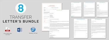 Sample Transfer Letter 8 Documents In Pdf Word
