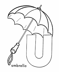 Small Picture ABC Coloring Sheet Letter U is for Umbrella Learning
