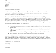 Sample Cover Letter For Executive Personal Assistantministrative Uk