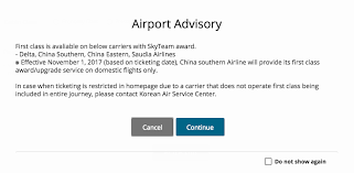 Korean Partner Award Chart Korean Air Skypass Eliminates China Southern First Class