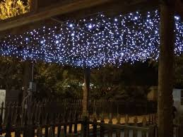 Led Icicle Drip Lights In Motion Icicle Lights Used To Create A Starry Sky Effect For
