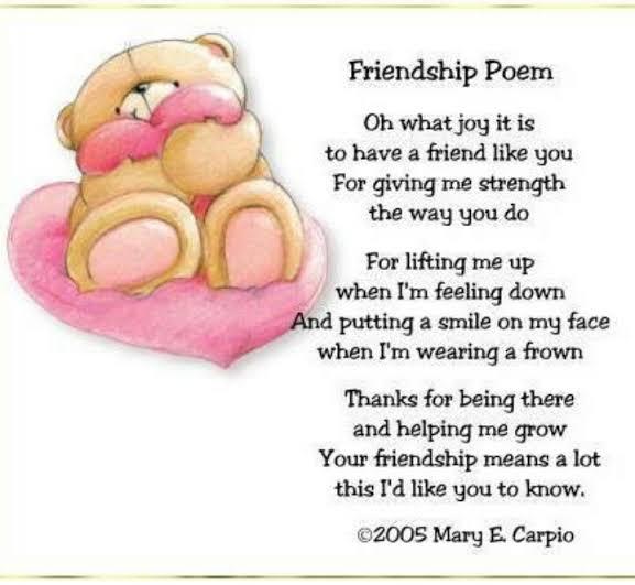poem about friendship