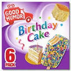 Good Humor Ice Cream Frozen Desserts Birthday Cake Bar 600 Ct Key