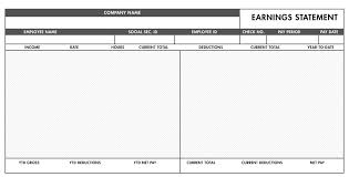 Paycheck Stub Layout 15 Paycheck Stub Layout Bank Statement