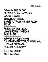 Bob Dylan Bob Links Spring 1997 Tour Guide