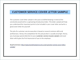 Cover Letter Examples Customer Service Representative Advice