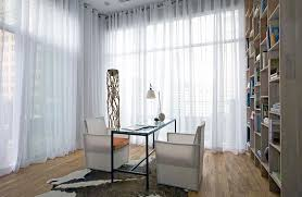natural light office. view in gallery control the naural light with some lovely sheer curtains natural office