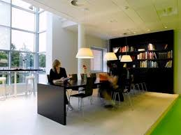 creative office design. build office interior with green shades design creative