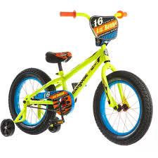 Mongoose Bmx Size Chart Mongoose R0638wm 16 Lil Bubba Boys Steel Frame Fat Tire Bike Neon Yellow