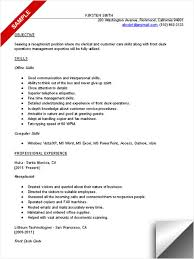 Receptionist Resume Sample List Of Receptionist Skills By Kirsten