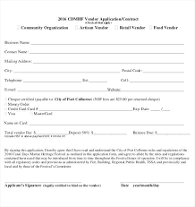 free application templates participant registration form template vendor application templates