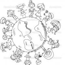 Kids holding hands stock vectors, clipart and illustrations. World Thinking Day Mandala Coloring Page 10 Earth Day Coloring Pages Coloring Pages World Thinking Day