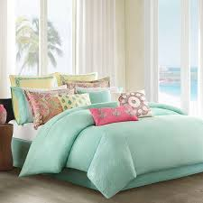 luxury queen size set bedding mint green colored