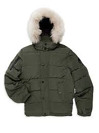 Moose Knuckles - Boy s Midcore Fox-Fur Trim Parka