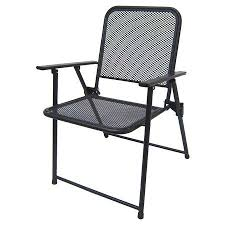 metal mesh folding patio chair