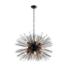12 light black sputnik chandelier black gold