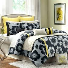 yellow and grey bedding sets white comforter canada