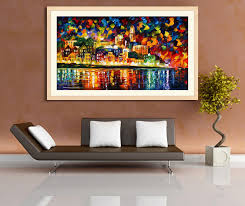 modern wall decor oil painting bridge printing on canves art print chalkboard poster no frame leonid afremov 107 in painting calligraphy from home