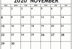 Free Printable November 2020 Calendar Calvert Giving