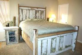 White Washed Bedroom Furniture Rustic White Bed Whitewash Bedroom ...
