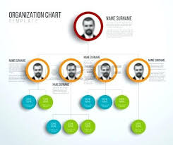 Powerpoint Hierarchy Templates Minimalist Organization Hierarchy Chart Template Light Version With