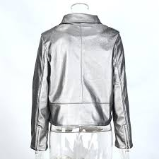 gray faux leather jacket daisy dress for less jackets coats silver gray faux leather women short gray faux leather jacket