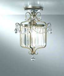 small flush mount chandelier crystal