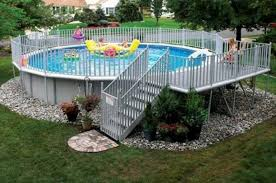 Image Wooden Round Above Ground Swimming Pools With Decks Diy Design Decor 40 Uniquely Awesome Above Ground Pools With Decks