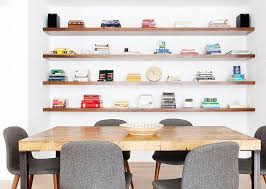 create a statement wall floating shelf ideas