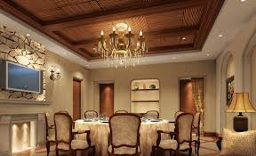 Decorative Ceiling Tiles Ideas For Classical Dining Room With Wooden  Material And Sparkly Vinatge Chandelier ...