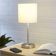 mainstays white grab and go stick lamp with usb port com