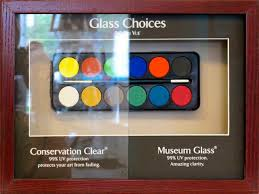 so if you are familiar with picture framing you might say hey i know there are more glass options and i would respond with no one likes a know it all