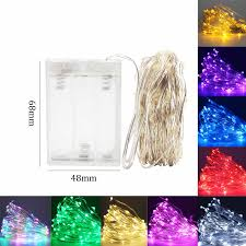 <b>LED</b> String lights 1 10M Silver Wire Battery fairy lights outdoor lamp ...