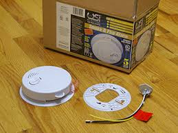 installing smoke detectors ac powered line voltage hard wired ac powered residential smoke detector