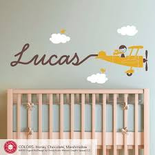 airplane wall decal boy name skywriter for baby nursery kids playroom personalized cute cursive on baby boy nursery wall art stickers with 25 best room ideas for zayden images on pinterest child room