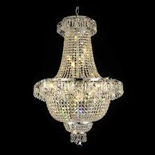 toro 26 inch hanging chandelier with clear crystal 600 27