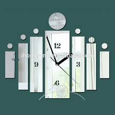 high quality diy acrylic mirror wall clock sticker modern luxury decorative wall clock import