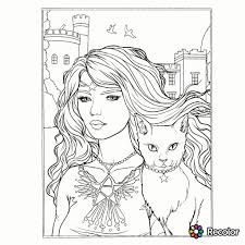 Selina Fenech Halloween Coloring Page