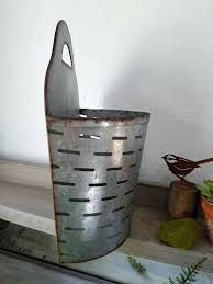 galvanized wall pocket planters large galvanized metal olive planter wall planter wall pocket olive bucket farmhouse galvanized wall pocket planters