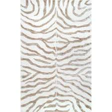plush zebra grey 4 ft x 6 ft area rug