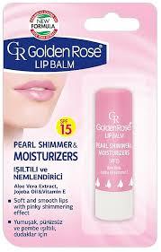 golden rose lip balm pearl shimmer