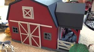 awesome wooden barn lots of animals