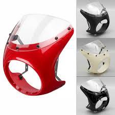 daftar harga produk retro cafe racer style handlebar fairing screen universal fit 7 headlight red intl di indonesia